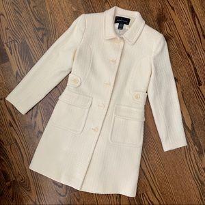 Victoria's Secret Moda Winter White Wool Coat Sz 6